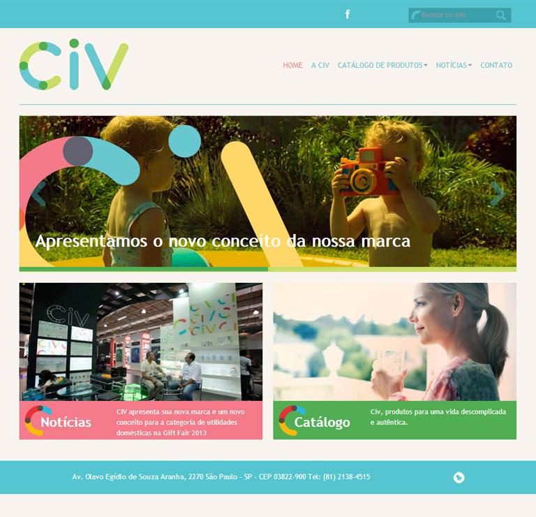 CIV - desenvolvimento de site institucional da empresa