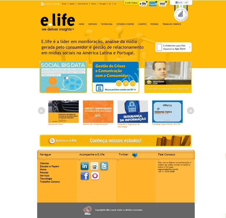 E.LIFE - Elaboração do website da empresa E.life