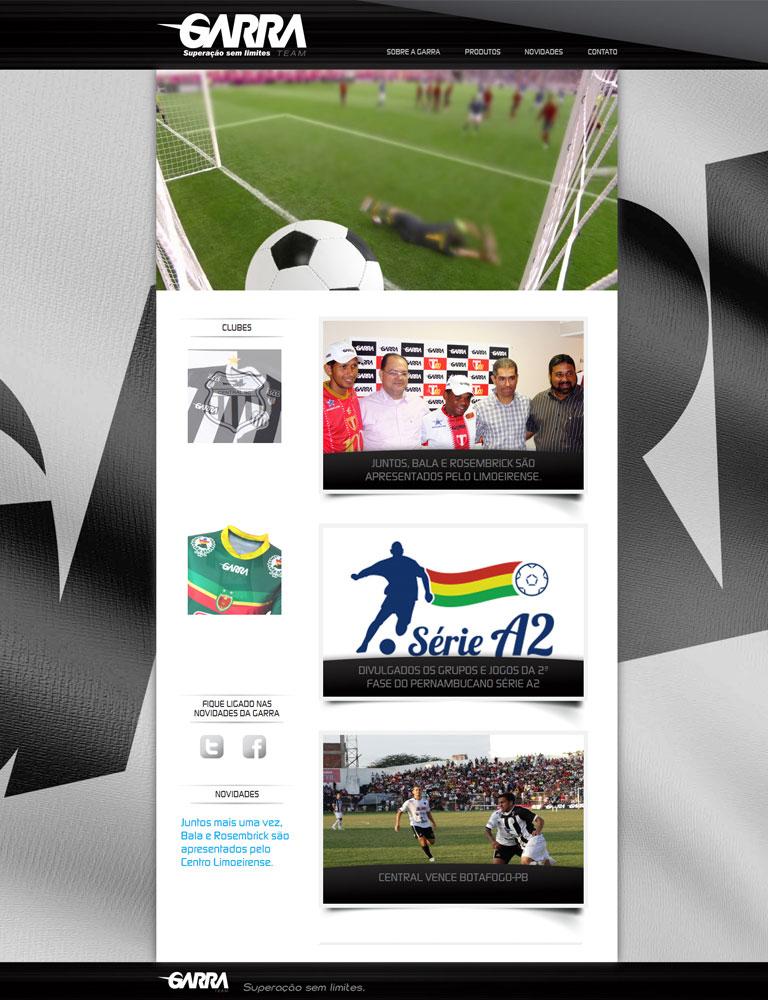 GARRA TEAM - Elaboração de website da empresa
