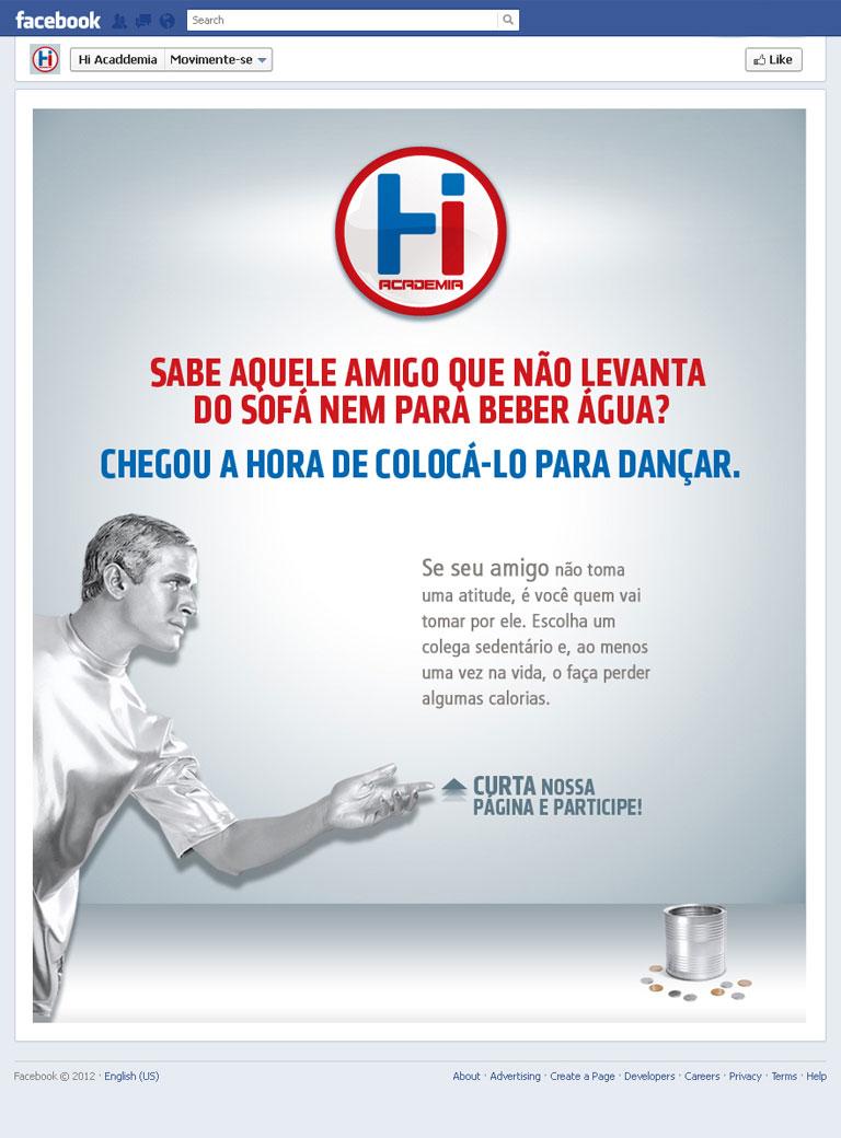 HI ACADEMIA - Campanha promocional da Hi Academia no Facebook