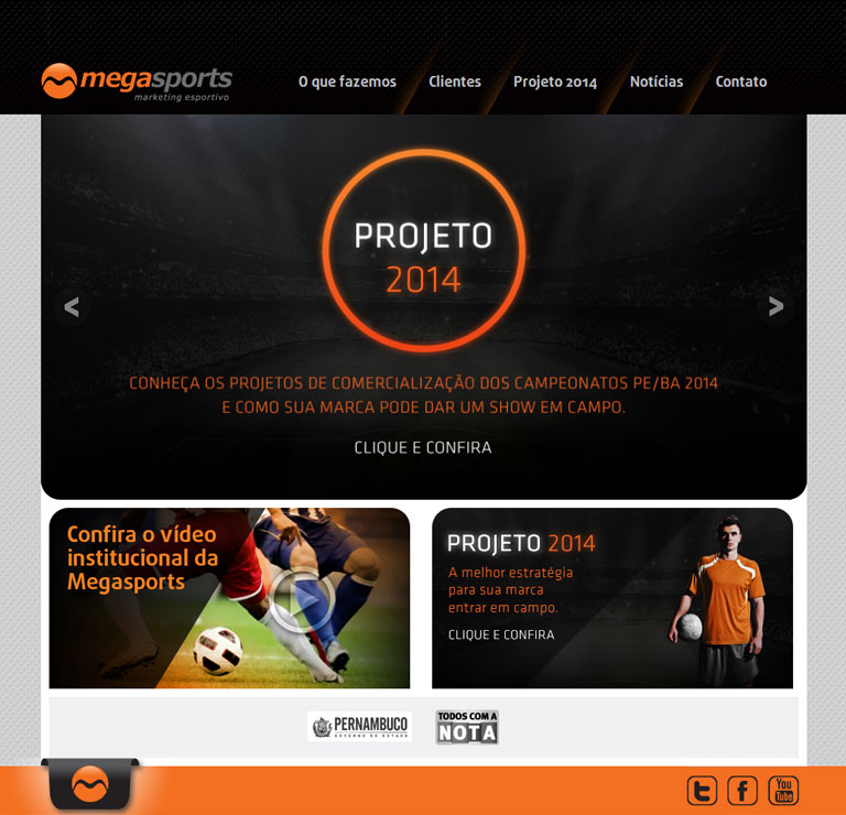 MEGASPORTS - desenvolvimento de website para Megasports