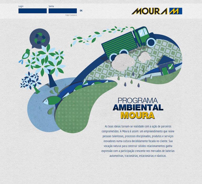 Moura Pam - Desenvolvimento do site do Programa Ambiental Moura