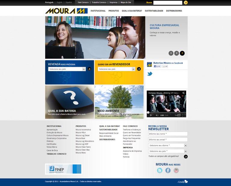 MOURA - Desenvolvimento do site institucional da Moura