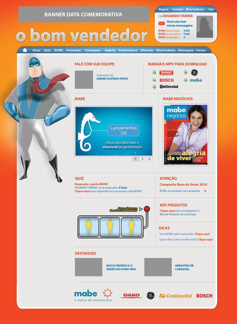 O Bom Vendedor - Website/Sistema de incentivo à vendas para a MABE