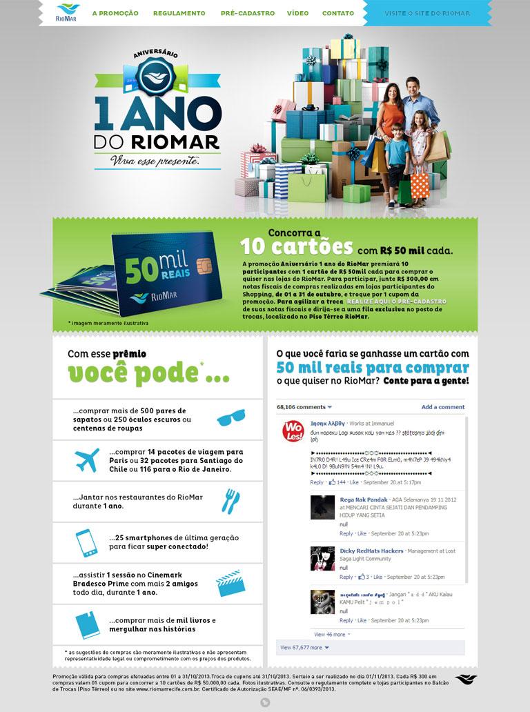 RIOMAR - Campanha para website do Shopping Riomar - 1 ANO DE RIOMAR