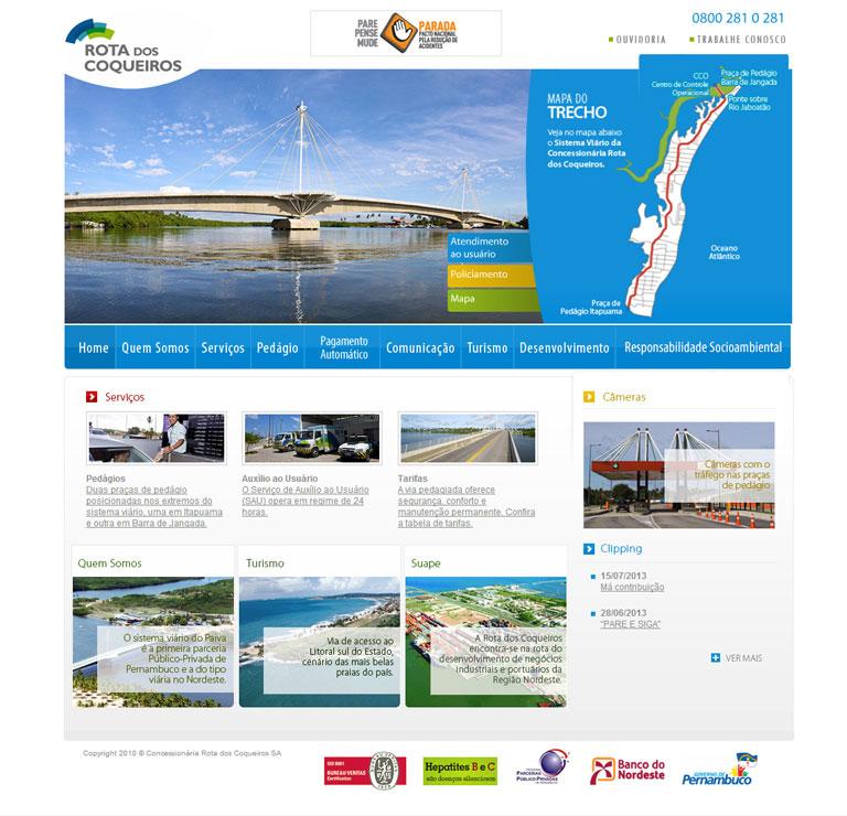 ROTA DOS COQUEIROS - Elaboração de website para Rota dos Coqueiros