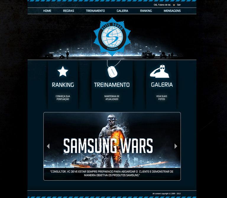 Esquadrão de Elite Samsung - Hotsite de campanha de vendas