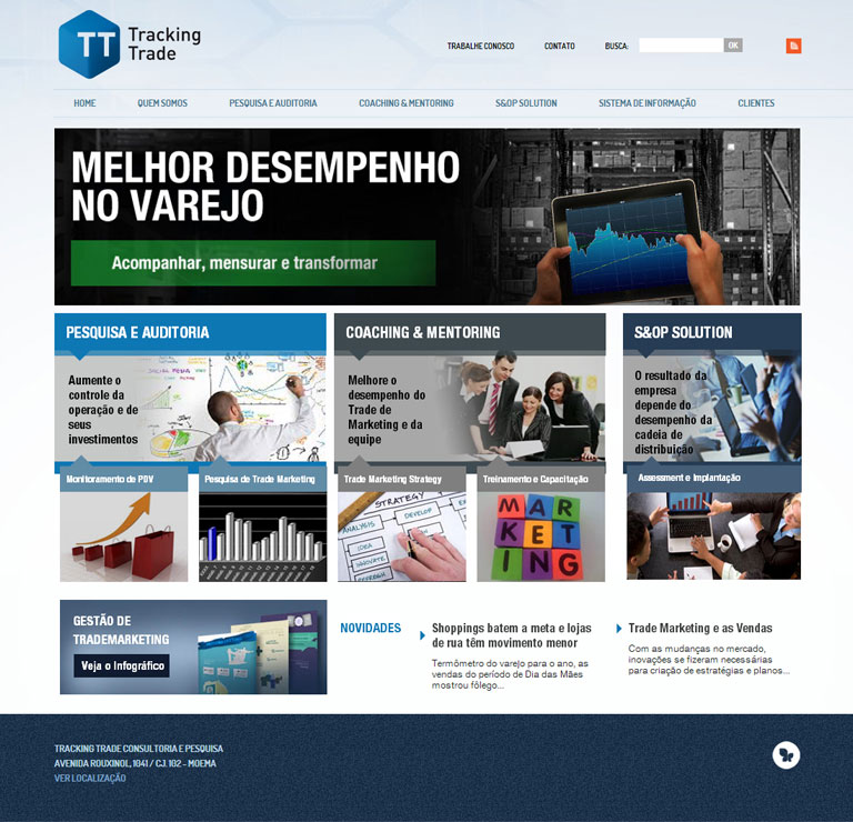 TRACKING TRADE - Desenvolvimento do website da empresa Tracking Trade Consultoria e Pesquisa