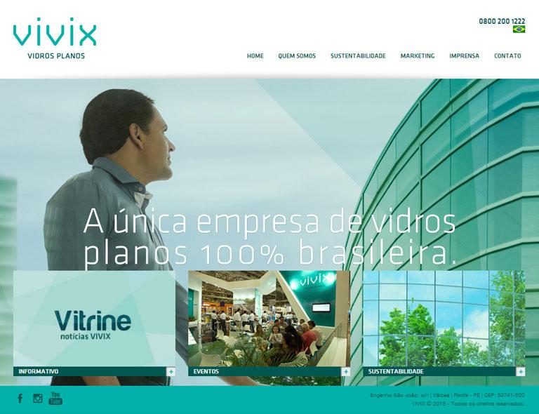 VIVIX - Desenvolvimento de website institucional - Backend